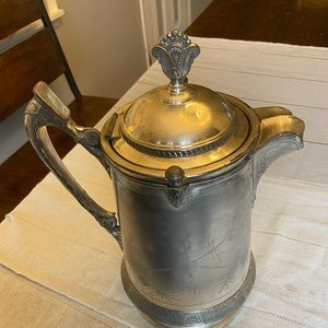 Reed & Barton Antique Silver Plate Water Pitcher